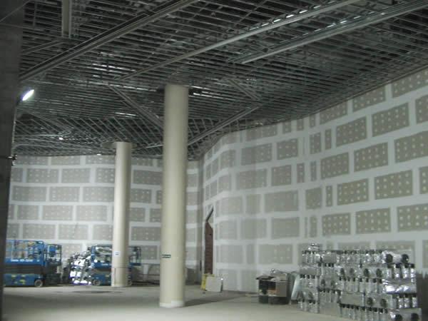 Estructura de cielorraso Durlock con rajas embutidas para iluminaci¢n 3