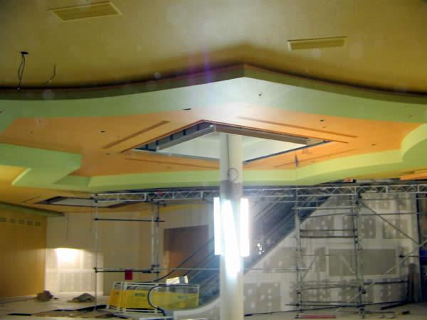cielorraso pintado con placas de yeso Durlock