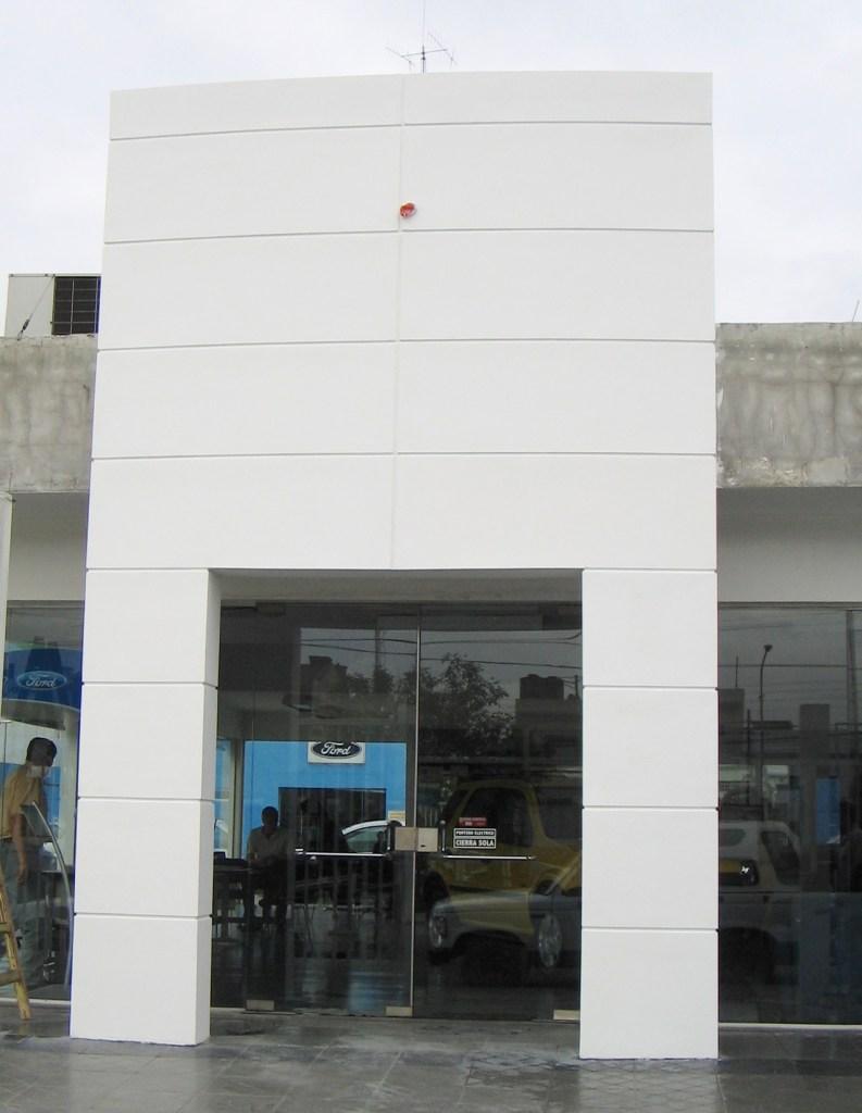 terminado fachada con placa superboard construccion en seco