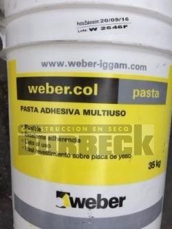 Adhesivo Weber Pasta Col multiuso x 35 kg Durbeck-Durlock-construccion-en-seco3