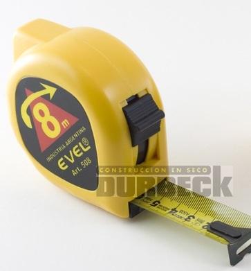 CINTA METRICA EVEL 8mts REF 508. chapa 22mm con freno Durbeck-Durlock-construccion-en-seco16