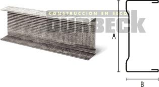 Perfil Solera 100 x 0,9 y 0,5mm x 2,6m Durbeck-Durlock-construccion-en-seco122