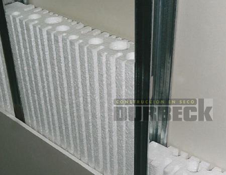 Placa EPS – Tergopor tabique. 1,20 x 0.40 m x 71mm dens STD. Durbeck-Durlock-construccion-en-seco