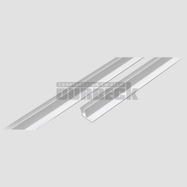 BARBIERI PERIMETRAL-F- perfil de PVC-3mts- Cielorrasos y Revestimientos de PVC-Durbeck construccion en seco